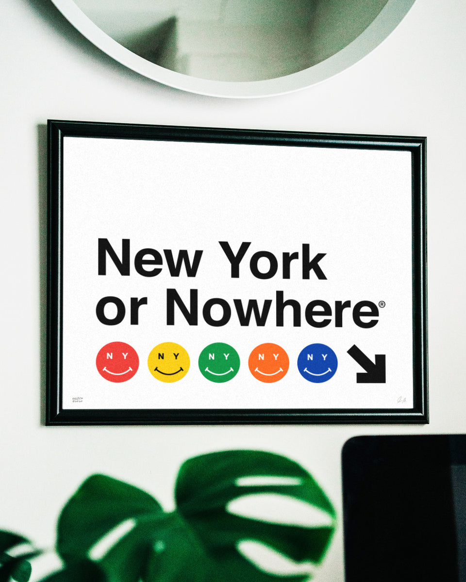 "NYON® ""Canal Street"" Print - White - New York or Nowhere® - NYON® by Knowlita"