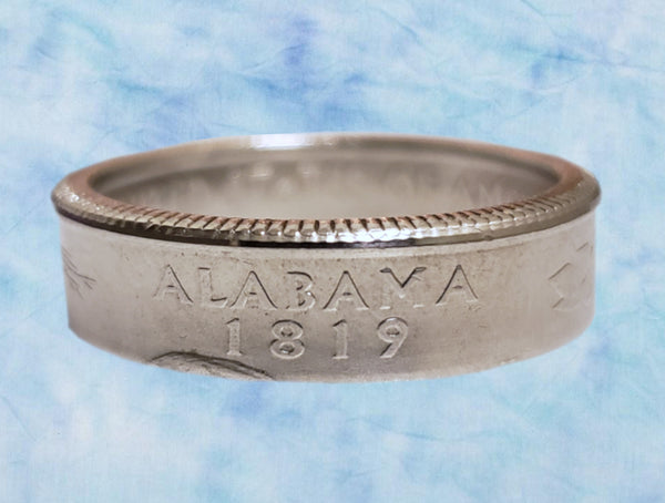 Alabama State Quarter Dollar Ring
