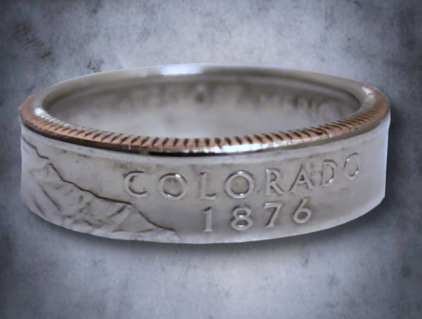 Colorado State Quarter Dollar Ring