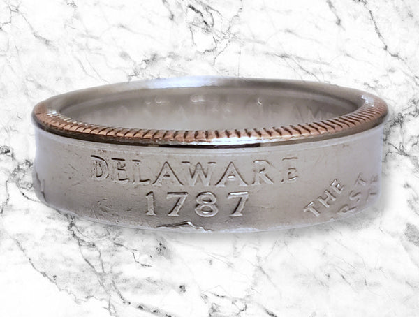 Delaware State Quarter Dollar Ring