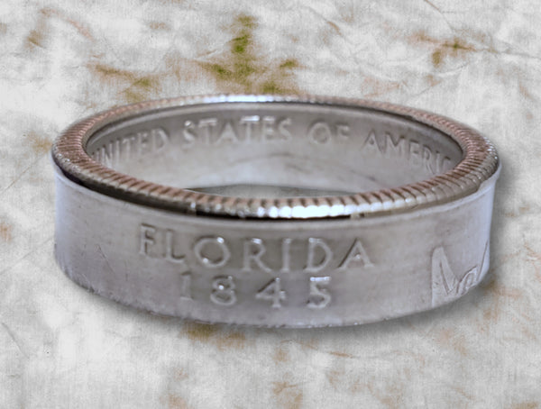 Florida State Quarter Dollar Ring