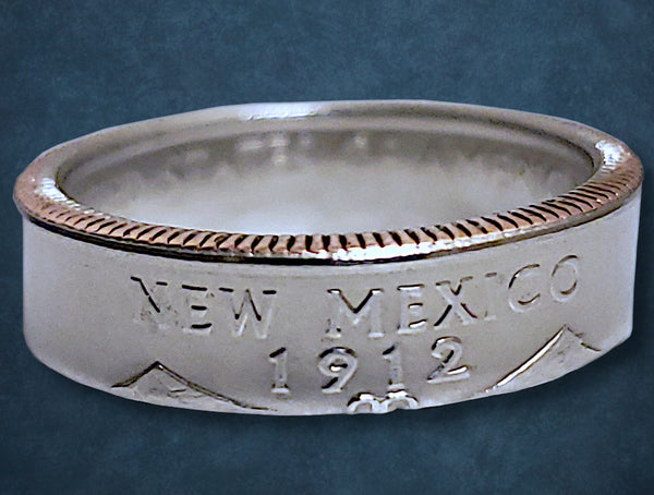 New Mexico State Quarter Dollar Ring