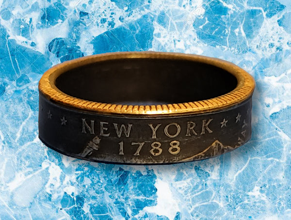 New York State Quarter Dollar Ring