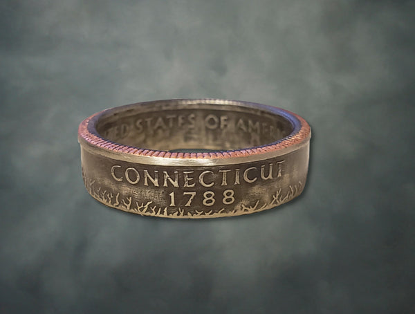 Connecticut State Quarter Dollar Ring