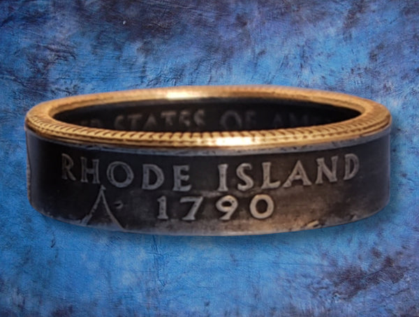 Rhode Island State Quarter Dollar Ring