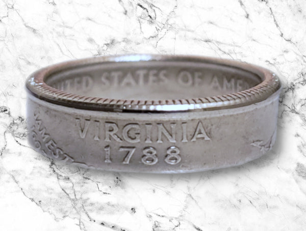 Virginia State Quarter Dollar Ring