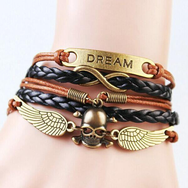 Infinity Dream Dark Skull Wrist Piece