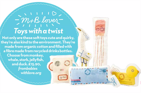 Many thanks to the team at Mother & Baby for featuring our range of Organic Soft Toys.