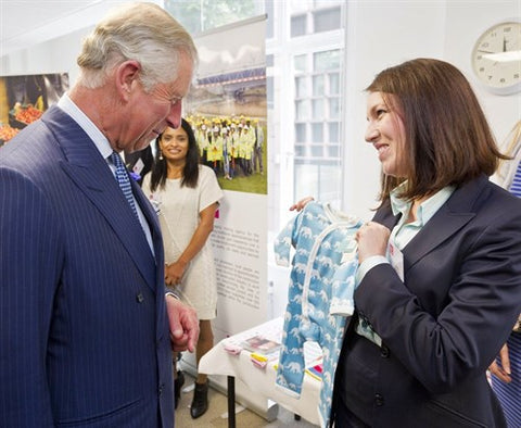 From Babies with Love Founder Cecilia Crossley Gives Baby Gift To Prince Charles