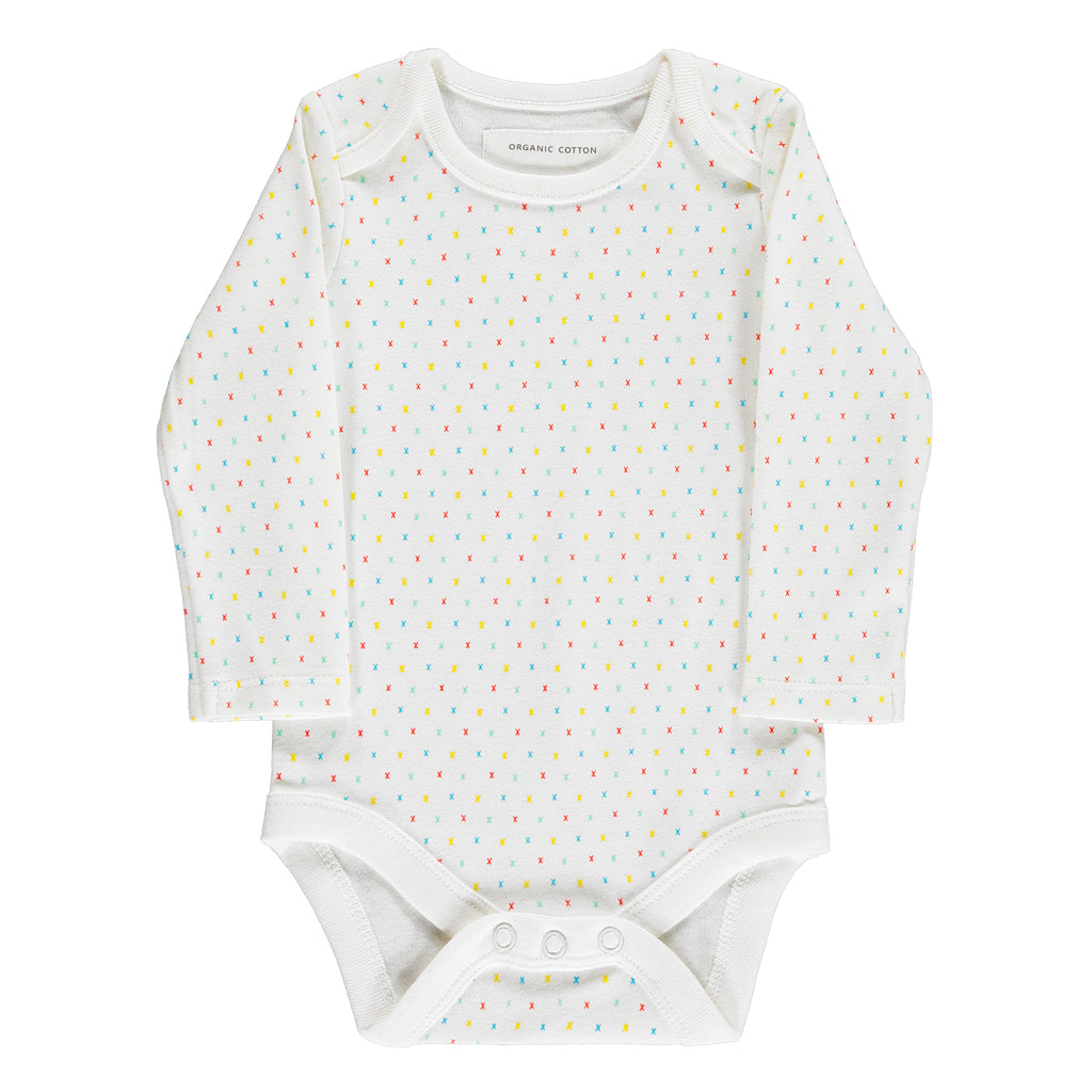 First Kisses Bodysuit Made From 100% Organic Cotton. Free Drawstring Gift Bag and Greetings Card with All Profits To Abandoned Children.