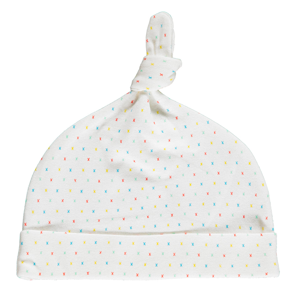 First Kisses Knot Hat Made From 100% Organic Cotton. Free Drawstring Gift Bag and Greetings Card with All Profits To Abandoned Children.