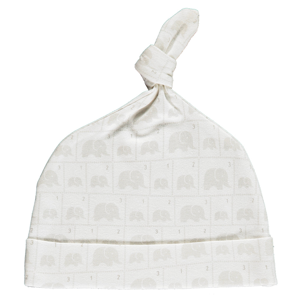 Elephant Family Knot Hat Made From 100% Organic Cotton. Free Drawstring Gift Bag and Greetings Card with All Profits To Abandoned Children.