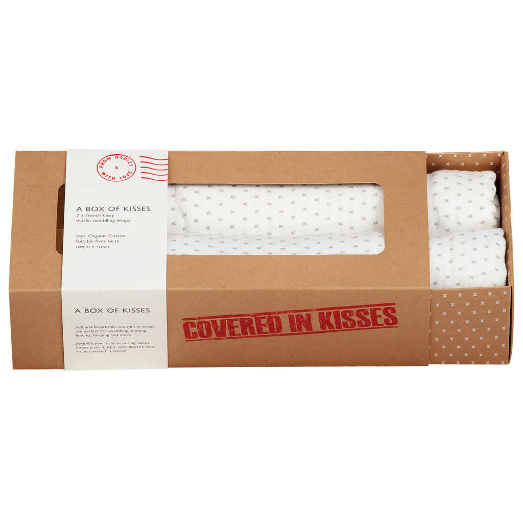 A Box of Kisses - French Grey Kisses - From Babies with Love 100% of Profit to Vulnerable Children