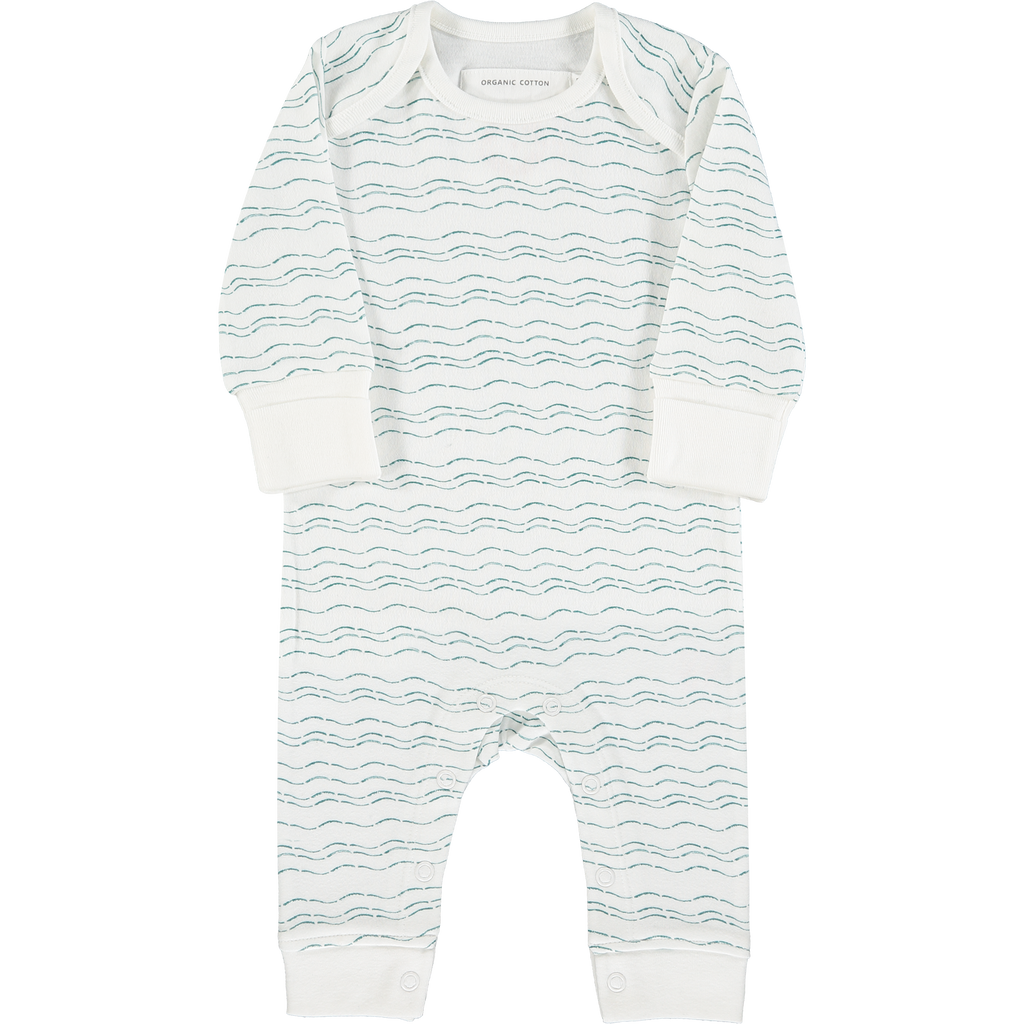 Front baby grow - Send love and kindness with our Waves of Joy organic baby grow, a heartfelt and beautiful baby gift.
