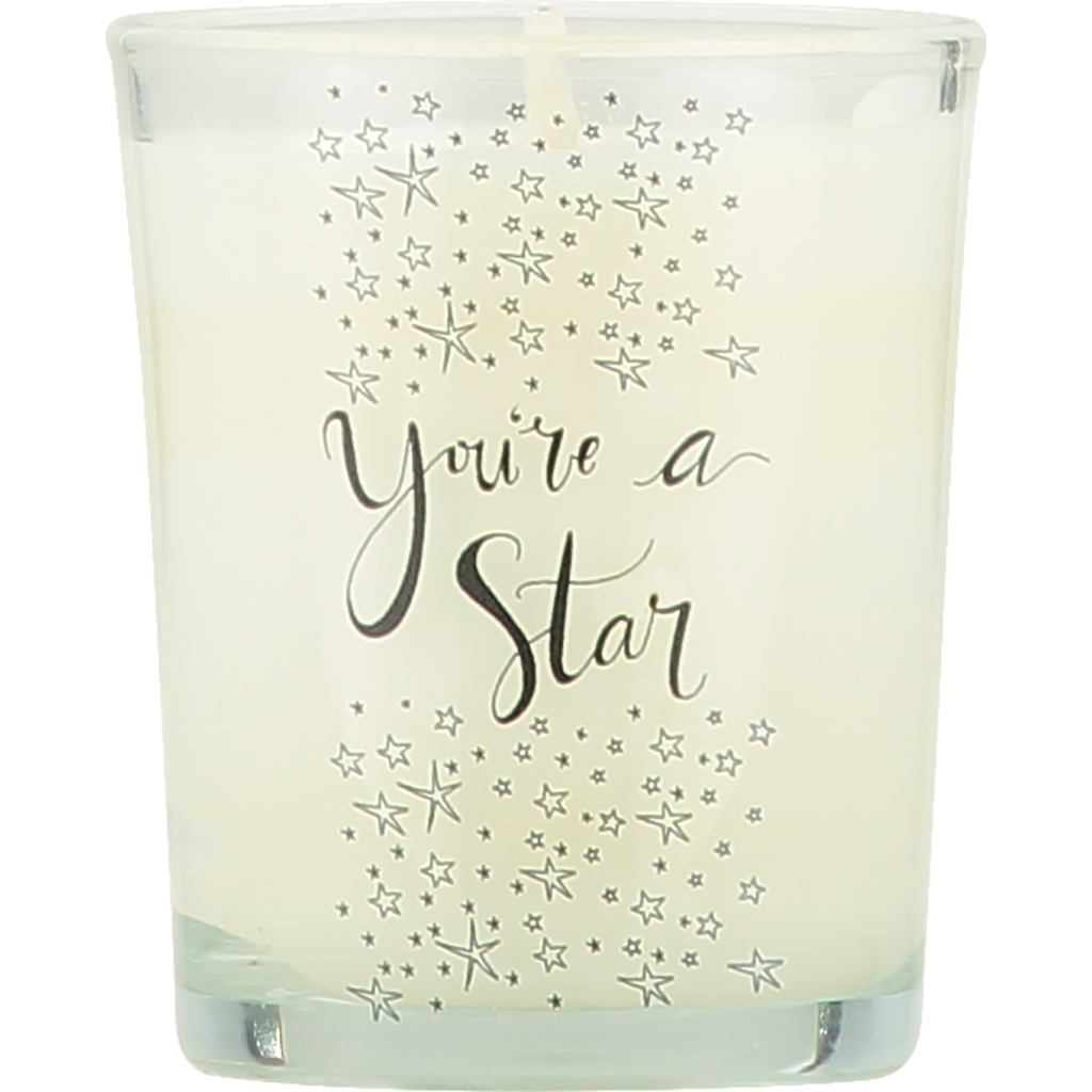 You're a Star natural soy votive candle
