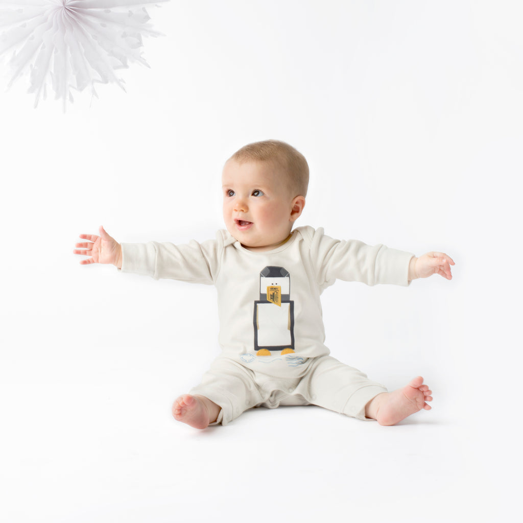 Penguin Organic Baby Grow - From Babies with Love 100% of Profit to Vulnerable Children