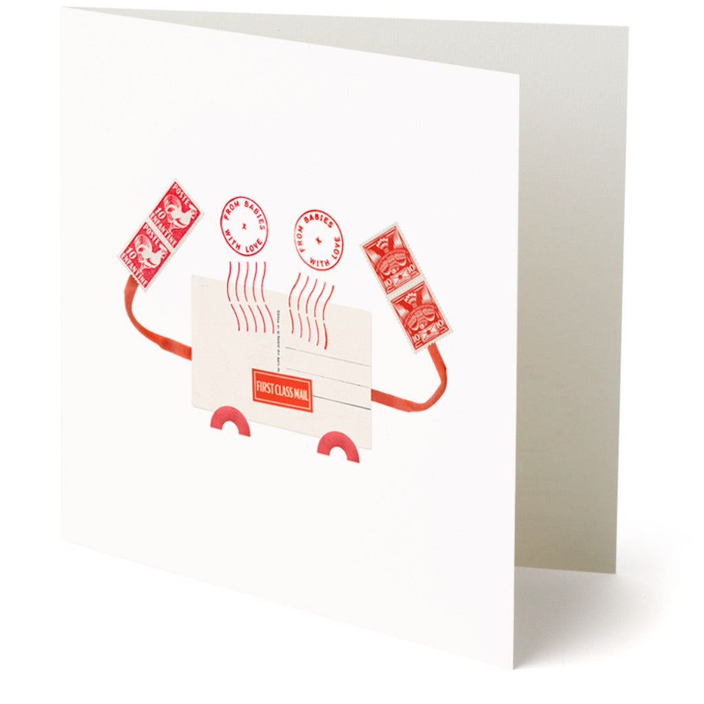 From Babies with Love Crab Greetings Card Made From Recycled Card