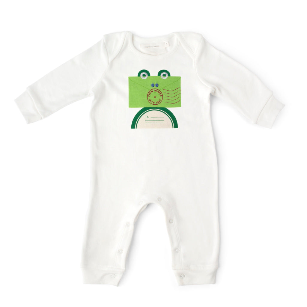 Baby grow - Frog organic baby grow - From Babies with Love 100% of Profit to Vulnerable Children
