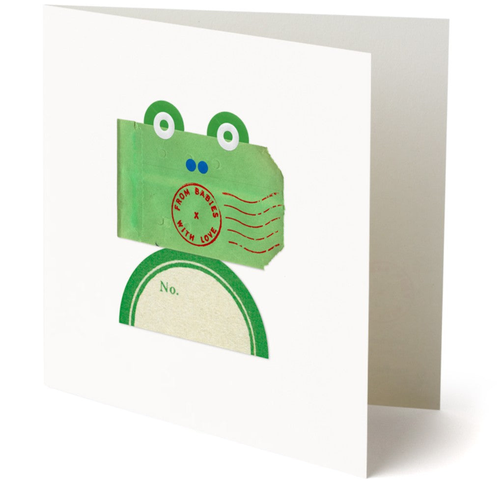 From Babies with Love Frog Greetings Card Made From Recycled Card