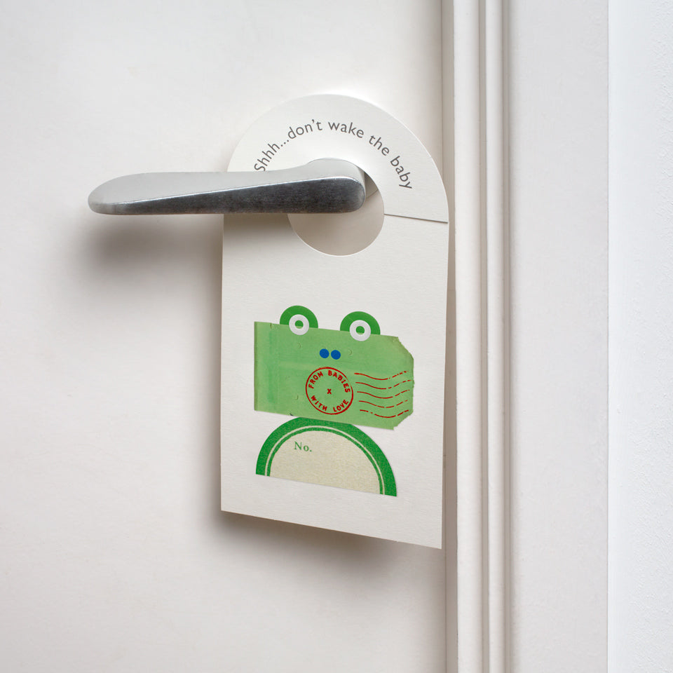 Frog nursery door hanger - From Babies with Love 100% of Profit to Vulnerable Children