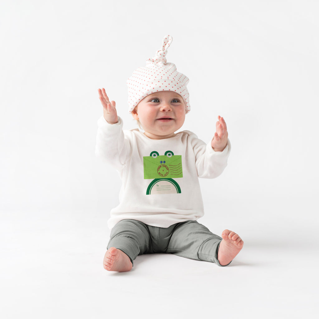 Frog Organic T-Shirt Made From 100% Organic Cotton. Free Drawstring Gift