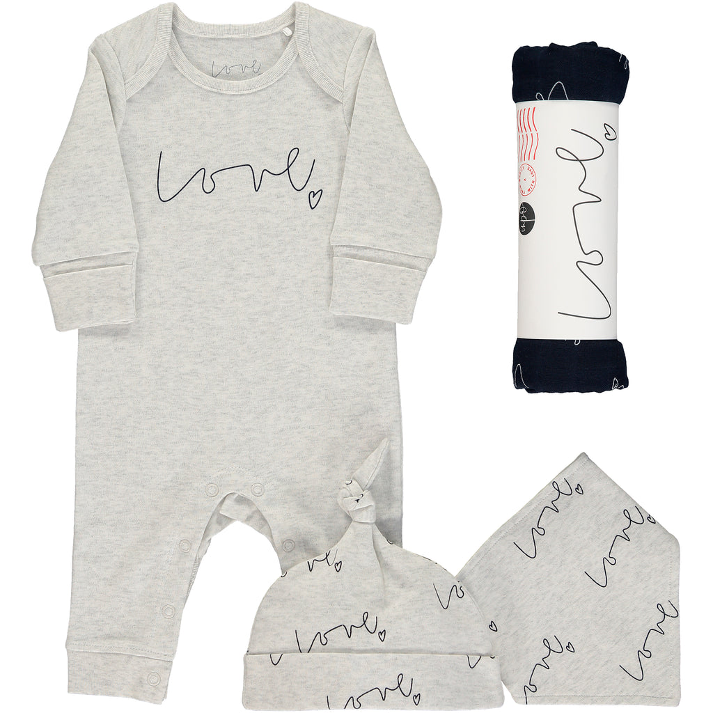 Love organic baby gift set - large night sky