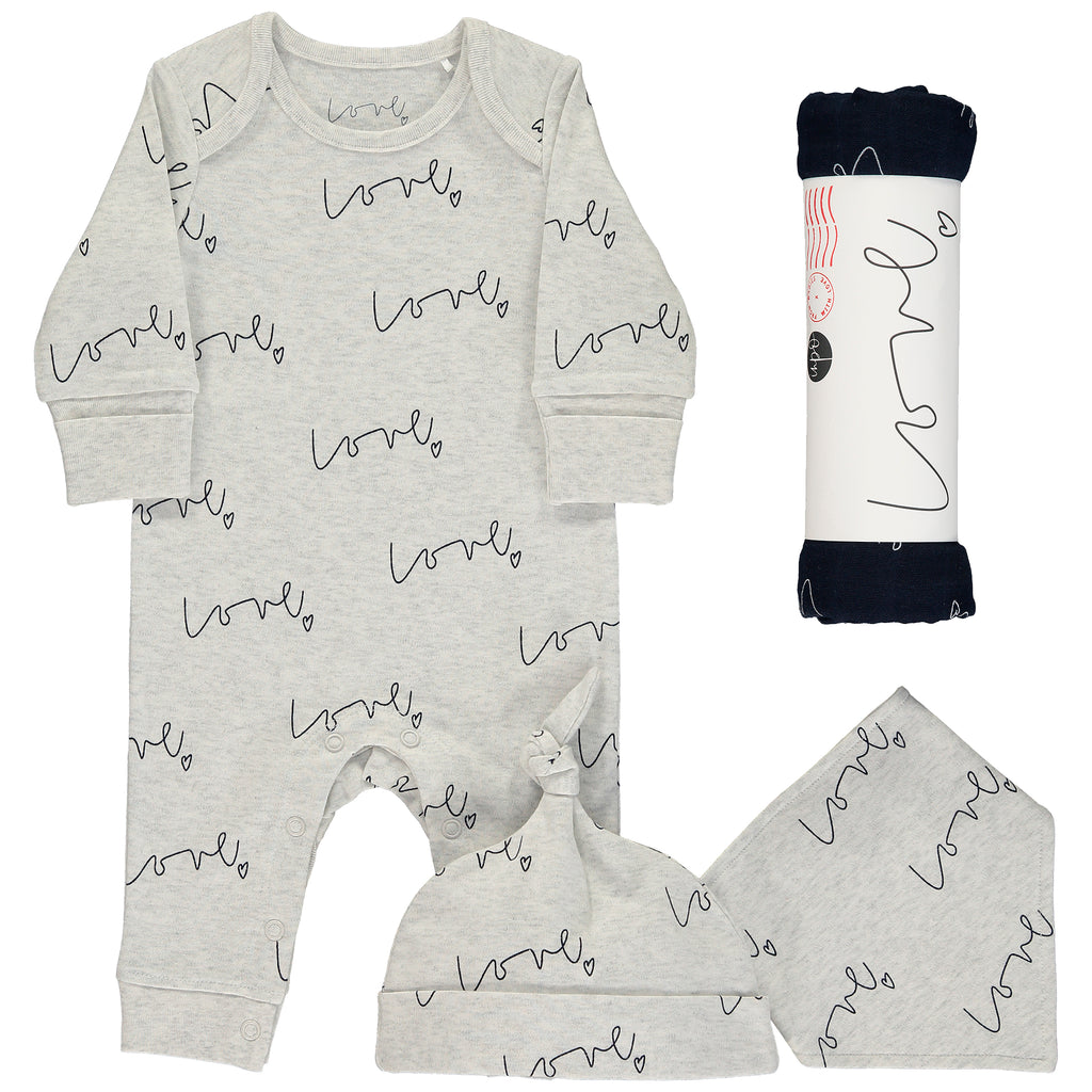 Love organic multi print baby gift set - large night sky