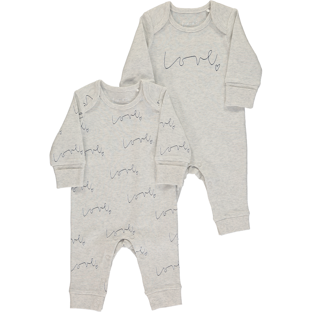 Love organic baby grow set