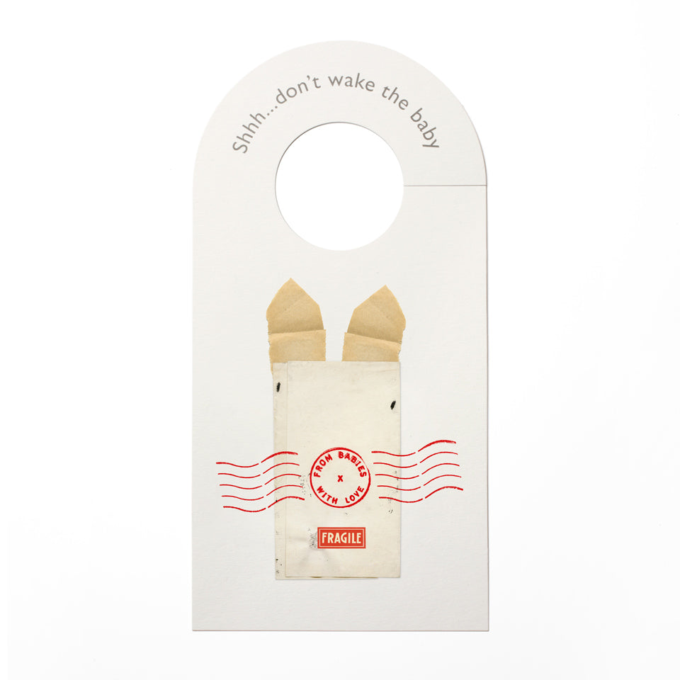 Rabbit nursery door hanger - From Babies with Love 100% of Profit to Vulnerable Children