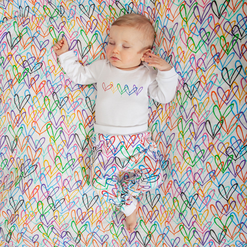 #Lovewall organic baby joggers - James Goldcrown x From Babies with Love