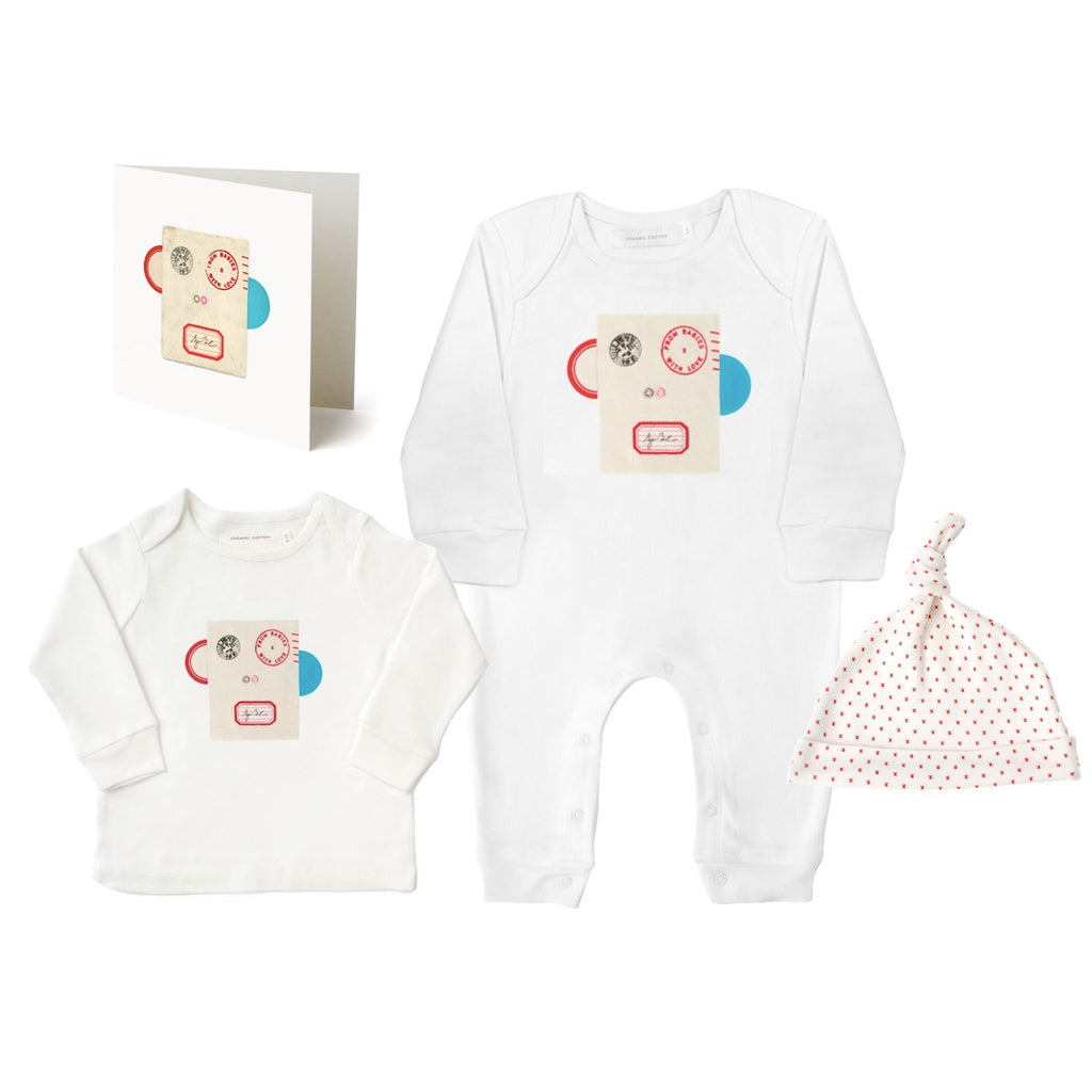 Monkey Large Gift Set Made From 100% Organic Cotton. Free Drawstring Gift