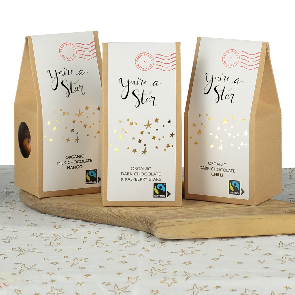 You're a Star organic and Fairtrade chocolate gift set