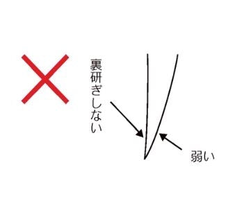 Japanese knife style edge diagram wrong
