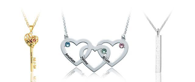 birthstone personalized necklaces