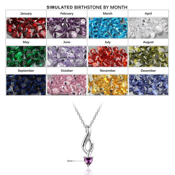 initial necklace november birthstone