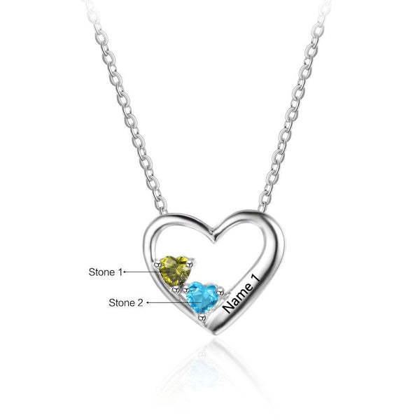dual birthstone necklace by glamcarat