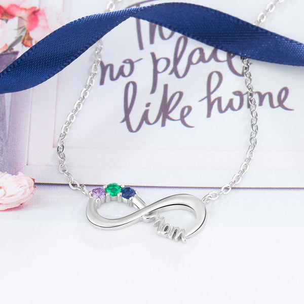 mothers necklace with infinity sign