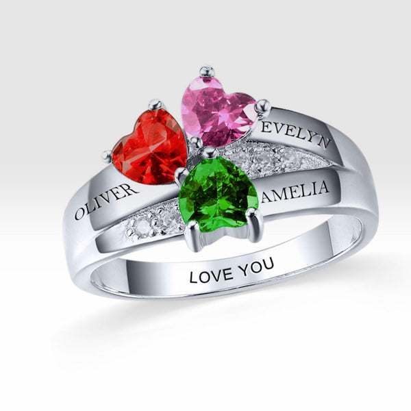emerald ring personalized