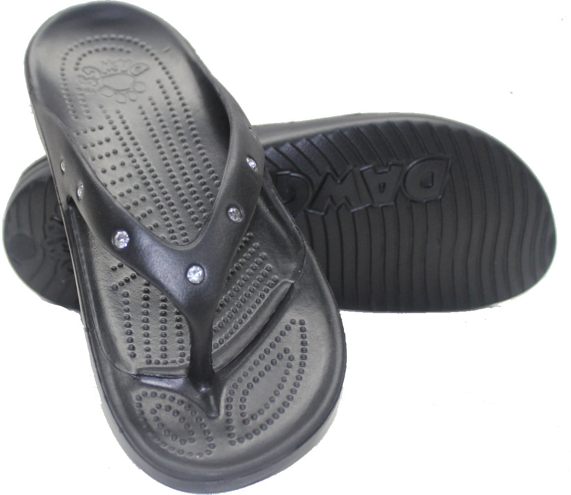 2d2210c6288fb Women s Flip Flop Diamond Black – Dawgs Footwear Australia