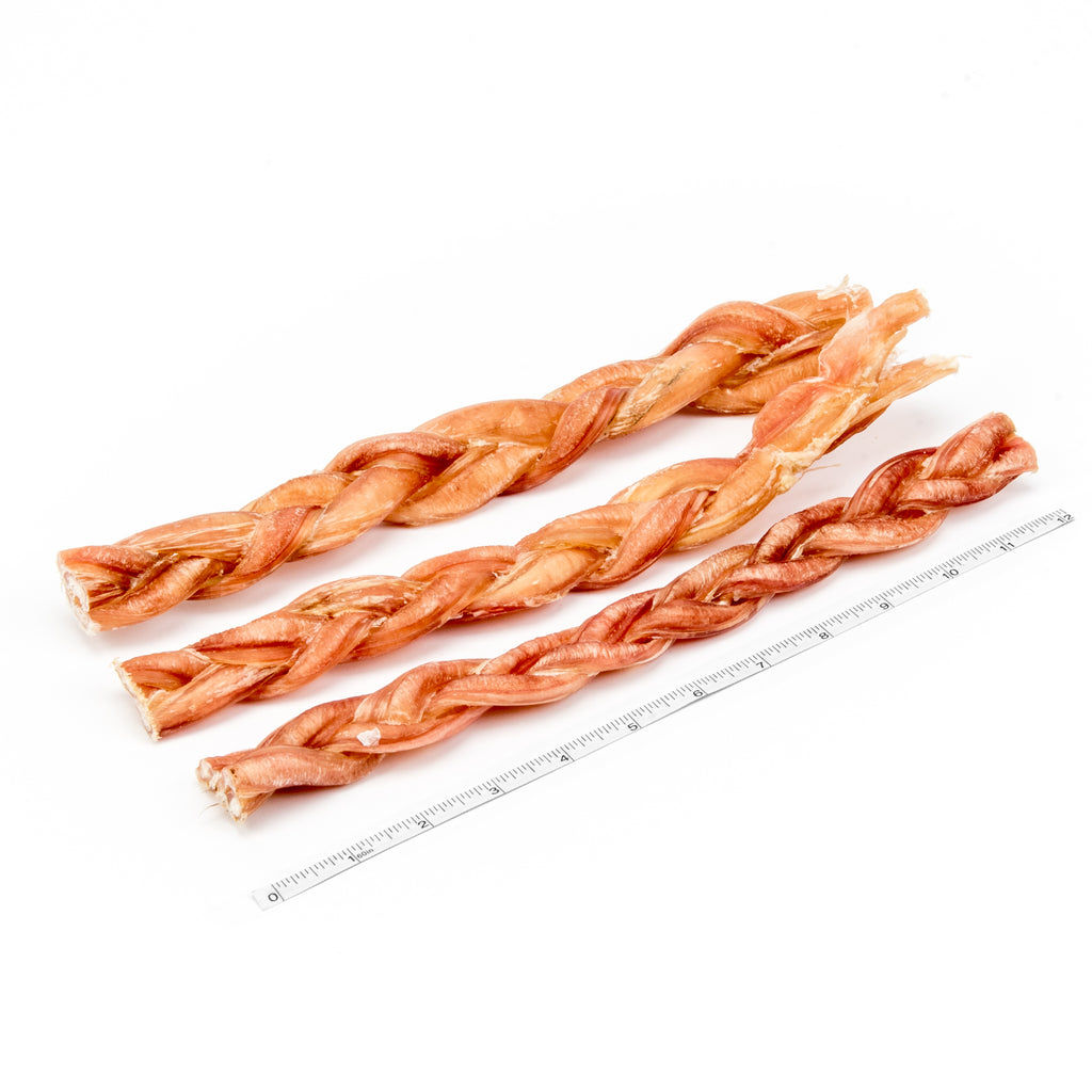 "12"" Braided Bully Stick - 3pk"