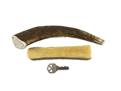 Antler / Himalayan Chew Combo Pack - 1 Large Antler Chew and 1 Large Himalayan Dog Chew - Devil Dog Pet Co