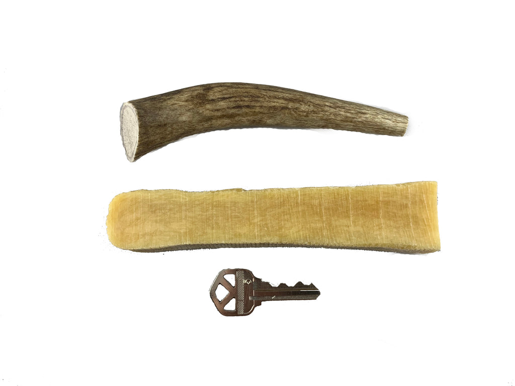 Antler / Himalayan Chew Combo Pack - 1 Small Antler Chew and 1 Large Himalayan Dog Chew - Devil Dog Pet Co