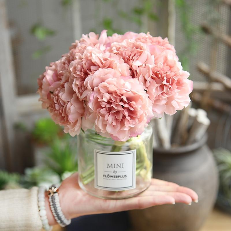 Peony Bouquet for Wedding Decoration - 5 Heads - Rumor Flowers