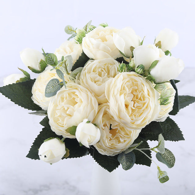 Silk Peony Flower Bouquet - Artificial - Rumor Flowers