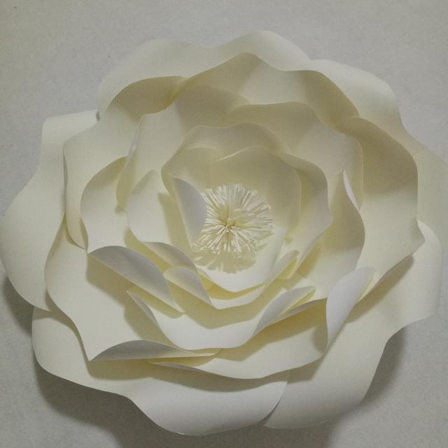 DIY Half Made Handmade Giant Paper Flowers For Wedding Backdrops Dream Event Paper Decorations 5 Different Flower Styles Option - Rumor Flowers