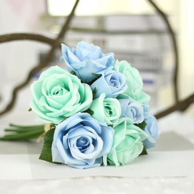 Wedding Bouquet Polyester Roses - Rumor Flowers