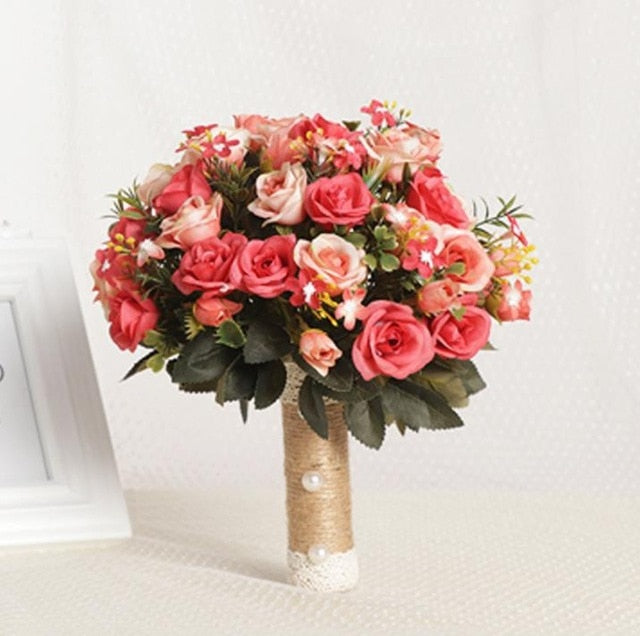 Bridal Bouquet European / Chaise Longue Roses / Wedding Bouquet - Rumor Flowers
