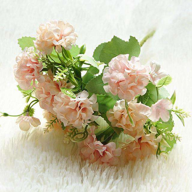 Hydrangea Artificial Flowers / Silk Home Decor Faux Flowers / Wedding Decoration Table Bouquet - Rumor Flowers