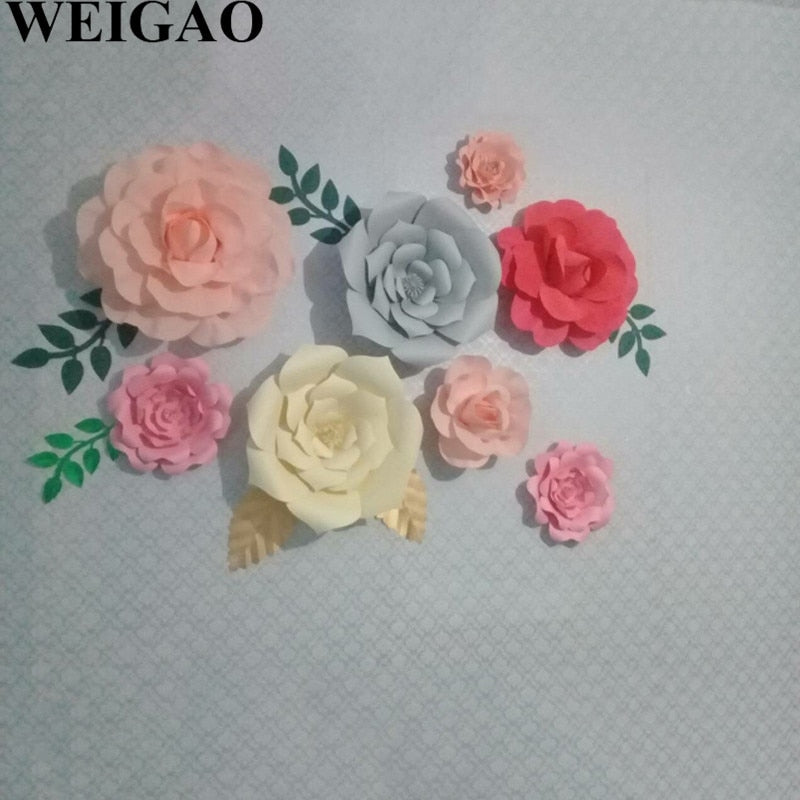 20/30/40cm DIY Giant Paper Flowers Rose Artificial Flowers - Rumor Flowers