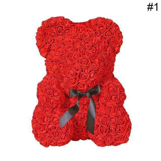 Rose Bear Wedding Party Decoration - Rumor Flowers
